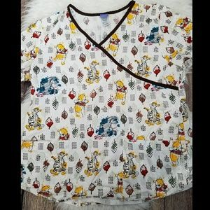 Disney winnie the pooh scrub top size LARGE
